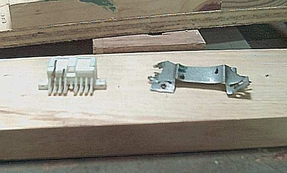 Salvaged connector, rear view