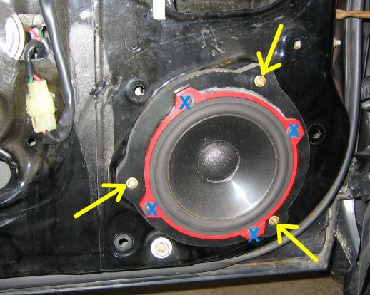Speaker plate screw removal